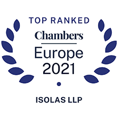 Top Ranked Chambers Europe 2021 - ISOLAS LLP